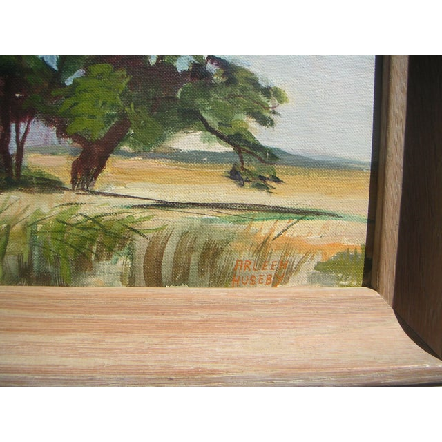 Arleen Huseby Mid-Century Texas Shack Painting For Sale - Image 5 of 5
