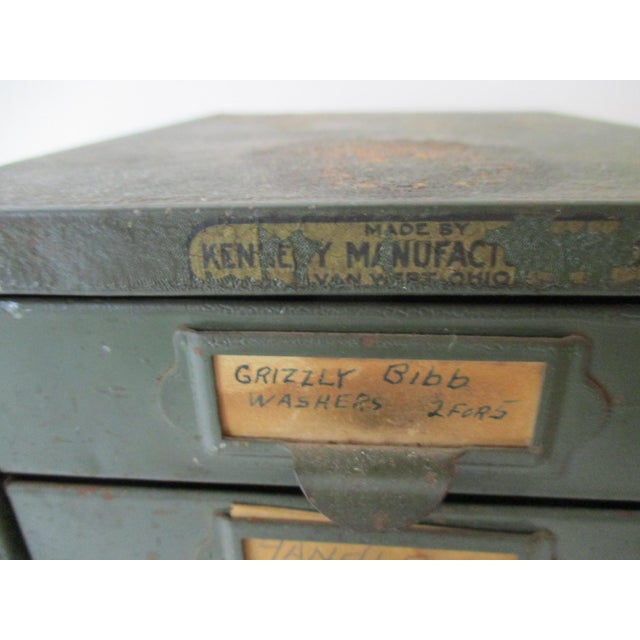 Industrial Metal Tool Chest Kennedy Vintage Drawers Cabinet For Sale - Image 9 of 9