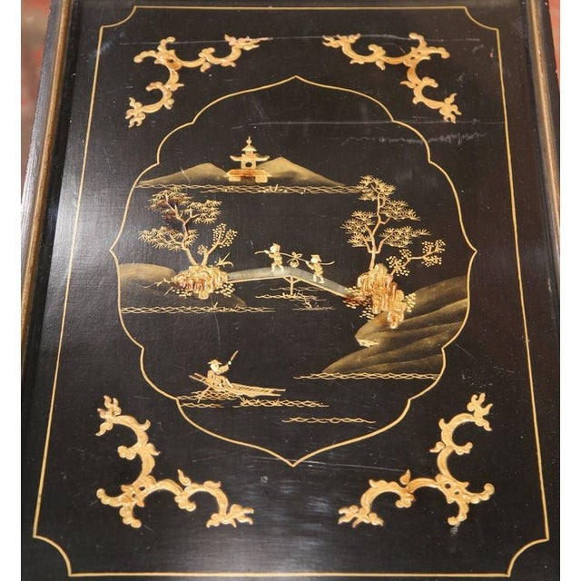 Early 20th Century French Chinoiserie Hand Painted Bar Cart - Image 4 of 10