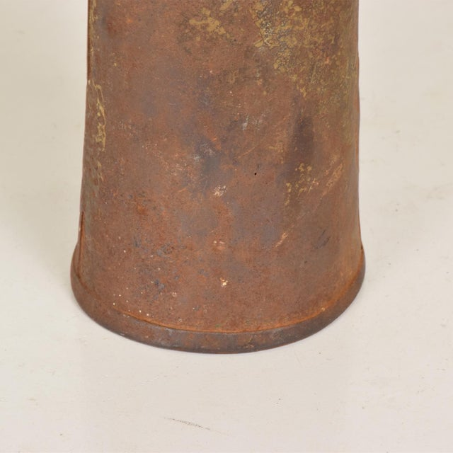 Brass Antique Decorative Cow Bell, Metal & Wood For Sale - Image 7 of 9