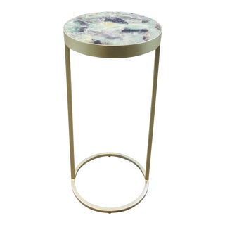 Caracole Modern Fluorite Round Drinks Table For Sale