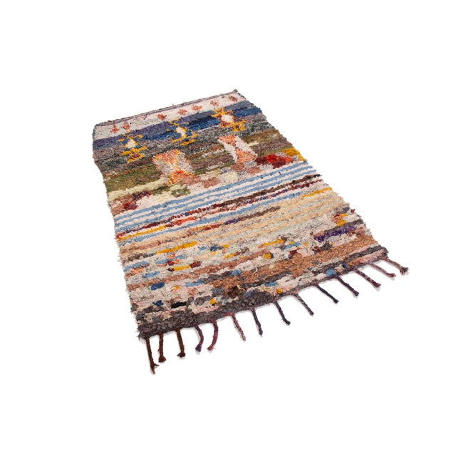 This Moroccan from Rug & Kilim is a thoughtful, inviting transitional, enriching any space. Shades of sky, royal, indigo...