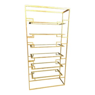Century Contemporary Etagere With Glass Shelves For Sale