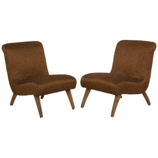 1940s Vintage Slipper Chairs- a Pair For Sale