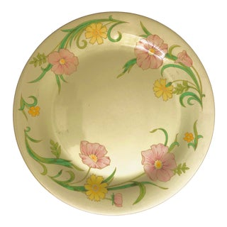 "Vintage Mikasa Celadon Glaze "" Winsome Pattern"" Serving Plate 12.5""d For Sale"
