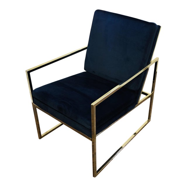 Vintage Mid Century Velvet Accent Chair For Sale
