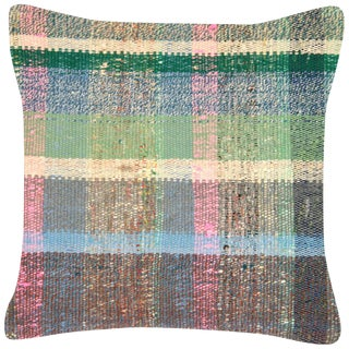 "Nalbandian - 1960s Turkish Hemp Pillow - 17"" X 18"" For Sale"