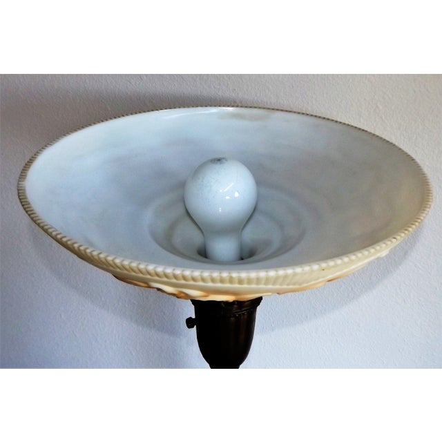 Vintage Brass & Marble Floor Lamp For Sale - Image 6 of 10