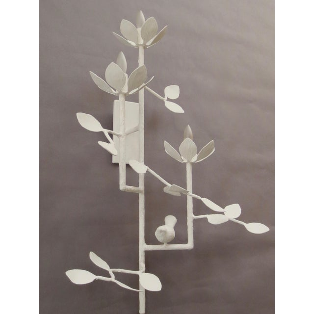 Plaster Garden Sconce For Sale - Image 4 of 7