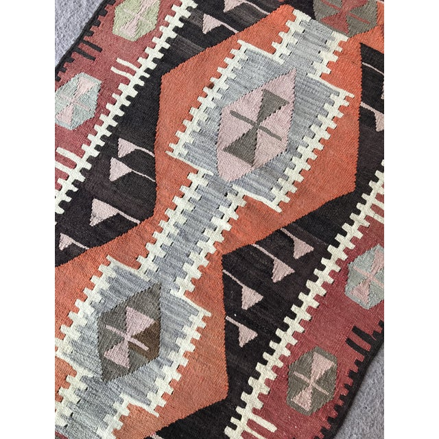 1930s 1930s Turkish Vintage Hand-Knotted Kilim Rug For Sale - Image 5 of 10