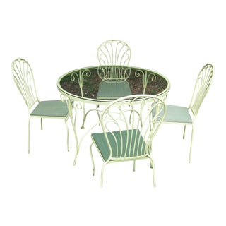 Salterini Mid-Century Table & 4 Chairs For Sale