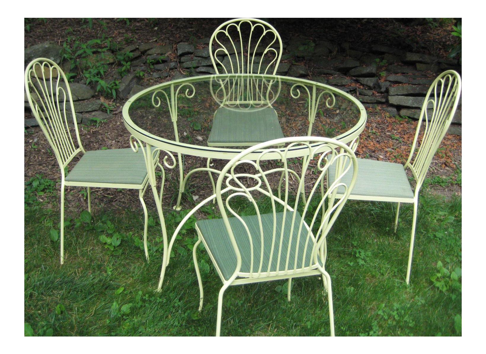Salterini Mid Century Table U0026 4 Chairs