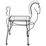 Image of Mid-Century Modern Horse-Form Bar Cart by Frederick Weinberg For Sale