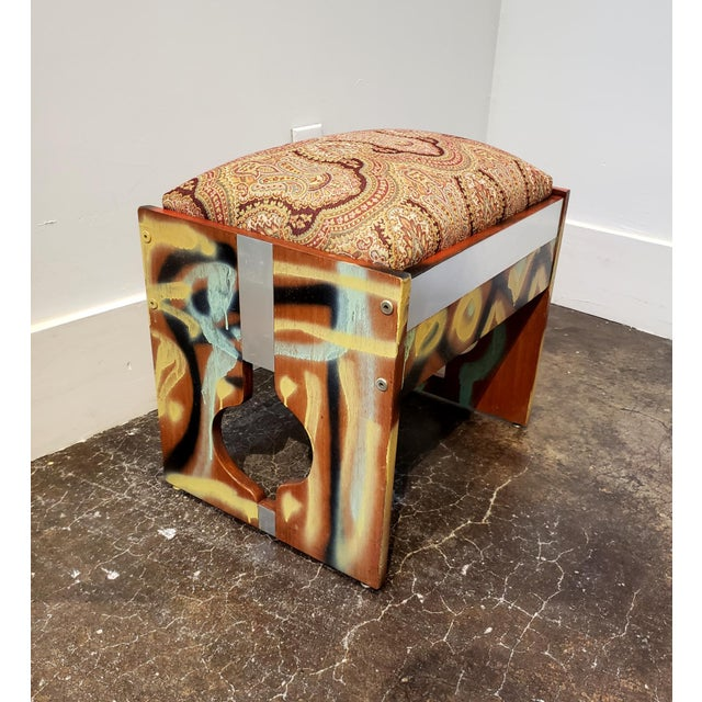 Graffitied Artist Painted 1970s Desk or Vanity - a Pair For Sale - Image 9 of 10