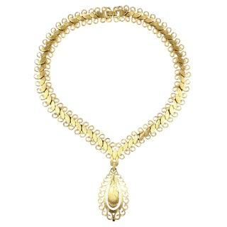 "Monet ""Gold"" Florentine Necklace For Sale"