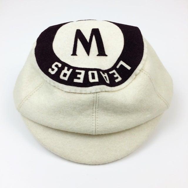 Antique Wool Short Bill Baseball Softball Ny Leaders Club Cap - Image 5 of 6