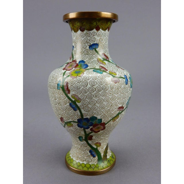 Asian Antique Chinese Cloisonne Vase For Sale - Image 3 of 11