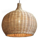 Image of Large Raw Wicker Bell Lantern For Sale