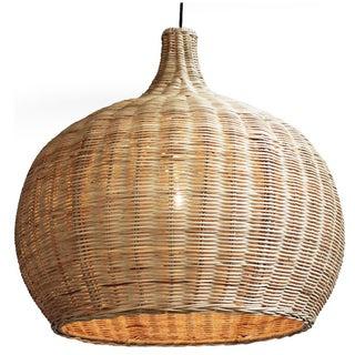 Large Raw Wicker Bell Lantern