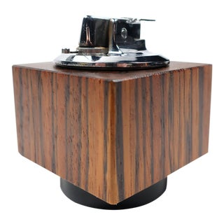 Modernist Rosewood Ronson Lighter For Sale