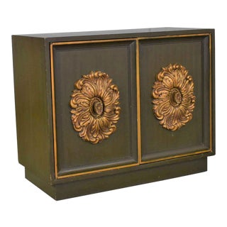 Mid Century Hollywood Regency Lane Small 2 Door Credenza Style J Mont or D Draper For Sale