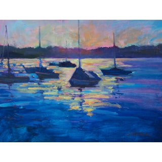 """Sunrise at the Yacht Club"" Painting For Sale"