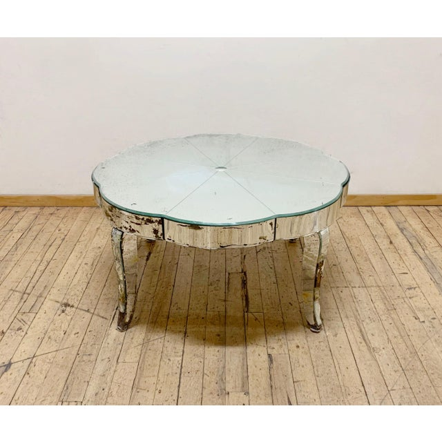 Period French or Italian Deco Mirrored Coffee Table For Sale In Chicago - Image 6 of 7