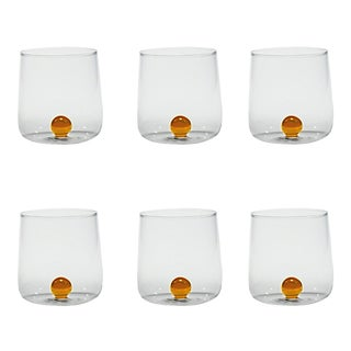 Bilia Tumbler in Golden Yellow - Set of 6 For Sale