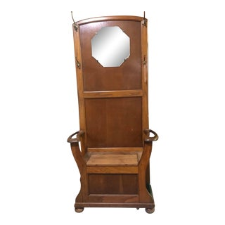 1900s Traditional Wooden Hall Rack For Sale