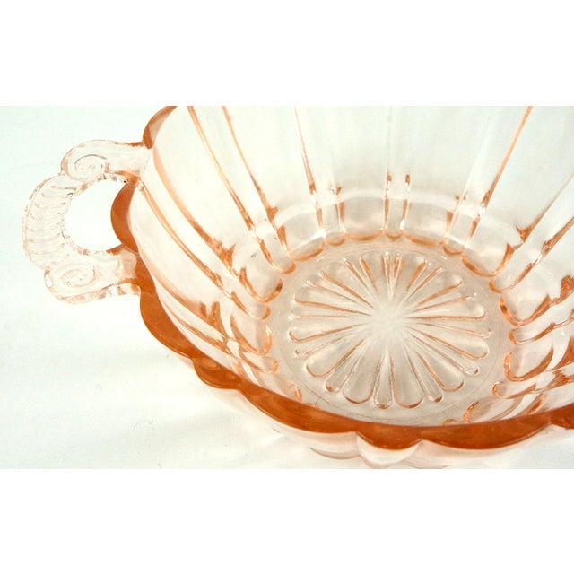 1930s Anchor Hocking Pink Glass Bowl and Plate For Sale - Image 5 of 6