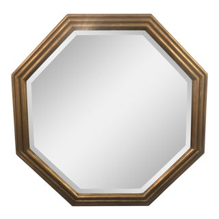 Traditional Custom Made Gold Leaf Octagonal Mirror