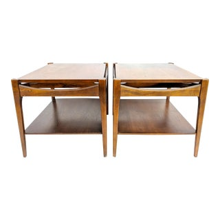 Mid-Century Modern Bassett Walnut End Tables - a Pair For Sale