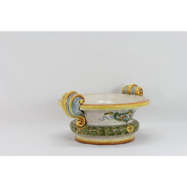 Renaissance Rinascimentale Large Round Bowl For Sale - Image 3 of 4