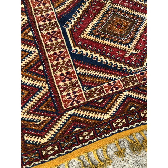 Islamic 1950s Vintage Moroccan Hand Knotted Rug- 5′ × 8′6″ For Sale - Image 3 of 10