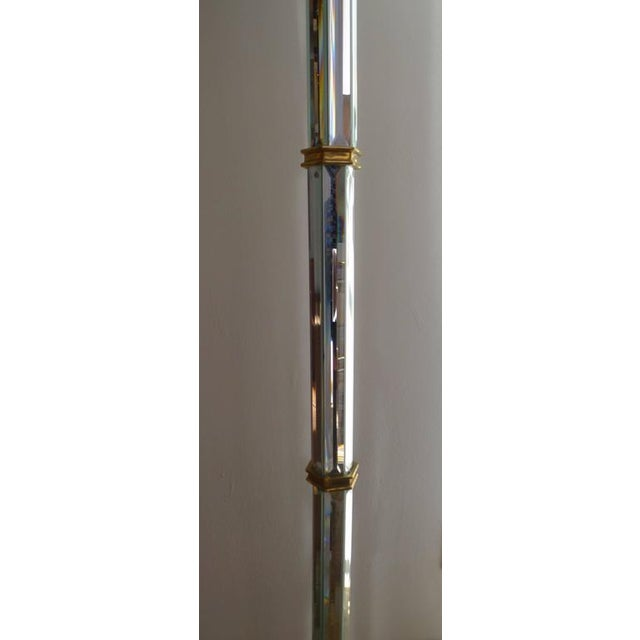 Brass and Beveled Mirror Floor Lamp For Sale In Los Angeles - Image 6 of 7