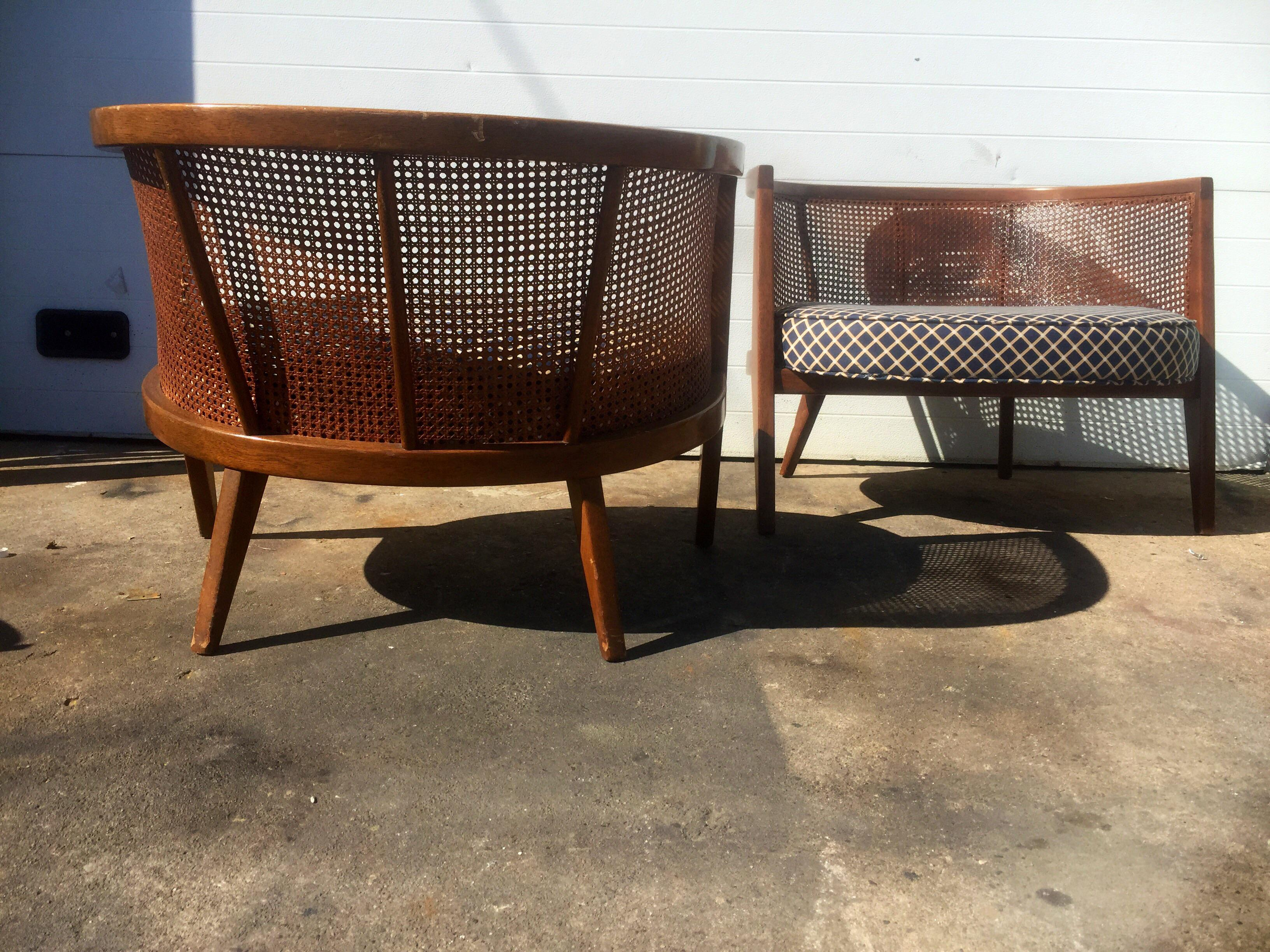Harvey Probber Model 1066 Cane Back Lounge Chairs   A Pair   Image 5 Of 9