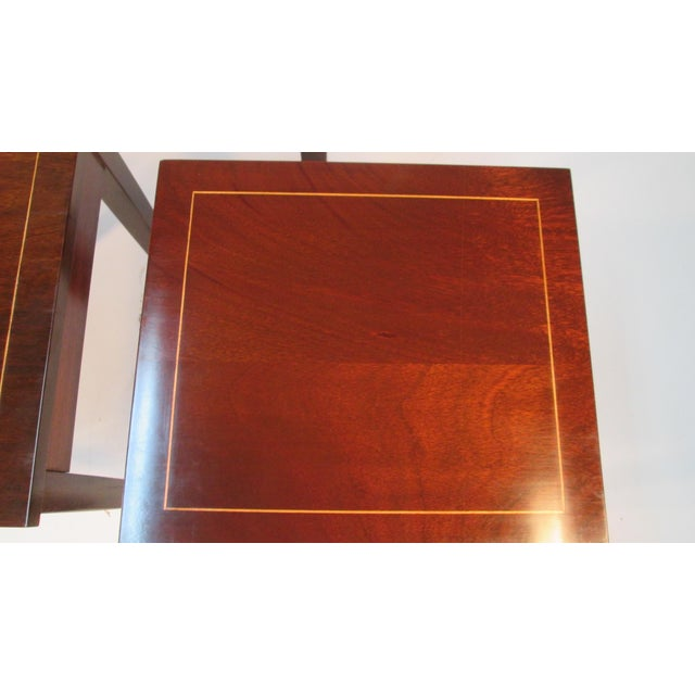 1960s 1960s Georgian Mahogany Nesting Tables - Set of 3 For Sale - Image 5 of 10