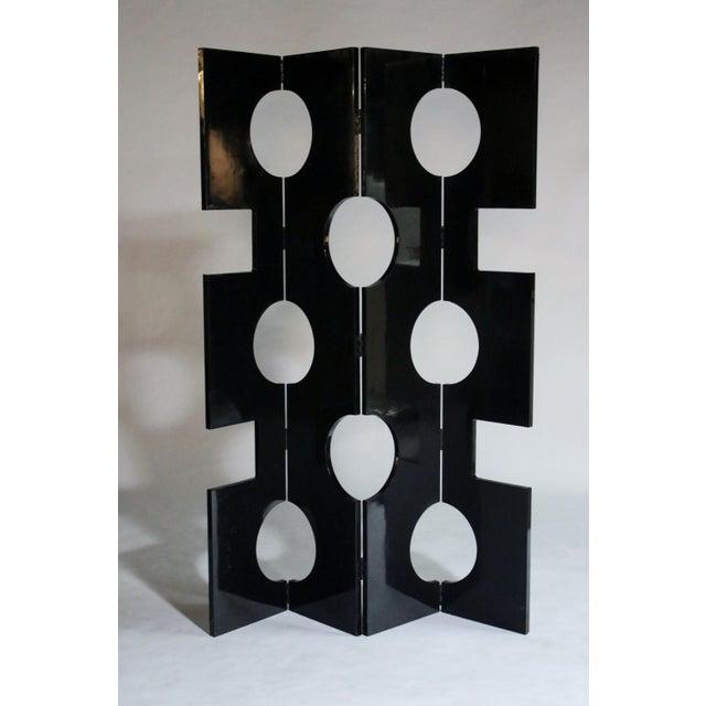 Mid-Century Modern Modernist Black Lacquered Wood Room Divider For Sale - Image 3 of 7