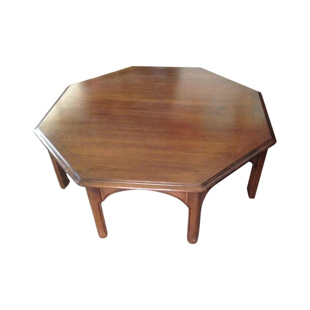 Wooden Octagon Shape Coffee Table - Image 1 of 7