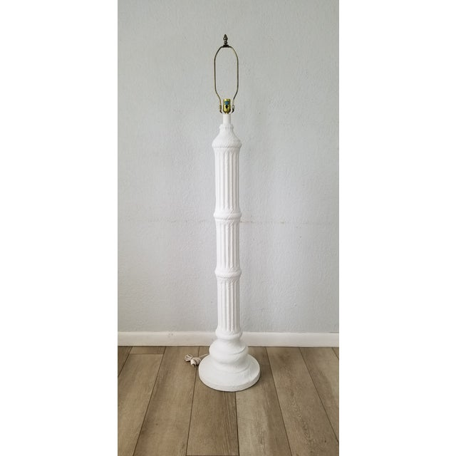 Hollywood Regency Hollywood Regency Column Plaster Floor Lamp . For Sale - Image 3 of 10