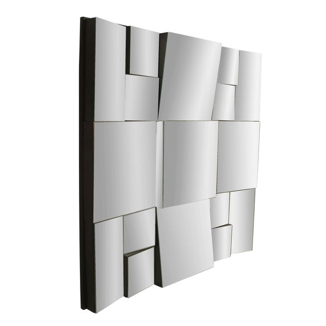 Modern Cubist Design Neal Small Multi-Faced Wall Mirror For Sale