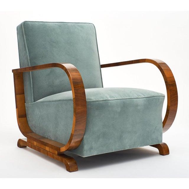 1940s Art Deco Austrian Armchairs For Sale - Image 5 of 11
