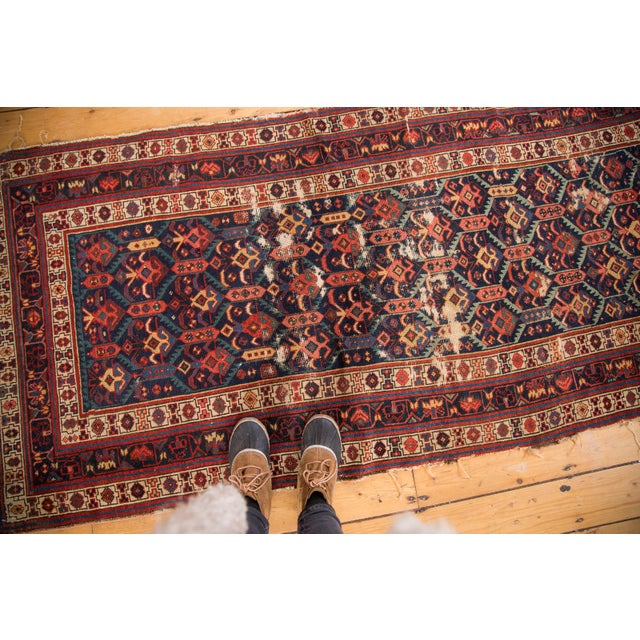 """Antique Caucasian Rug Runner - 3'5"""" x 7'10"""" For Sale In New York - Image 6 of 8"""