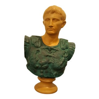 Fine Terracotta Bust of Augustus Caesar For Sale