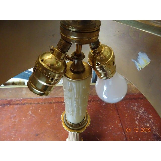 Gold Pair of 19th Century French Bouillotte Lamps For Sale - Image 8 of 12