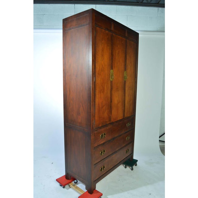 Mid-Century Modern Michael Taylor for Baker Middle East Collection Walnut Highboy Dresser For Sale - Image 3 of 12
