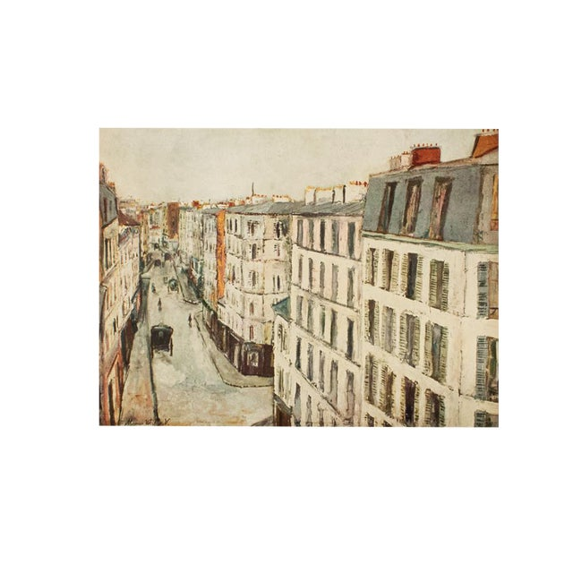 1950s Maurice Utrillo, Parisian Street First Edition Lithograph For Sale