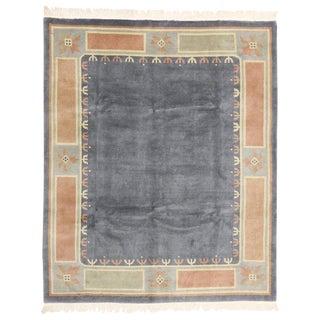 20th Century Tibetan Rug With Modern Design - 8′1″ × 9′10″ For Sale