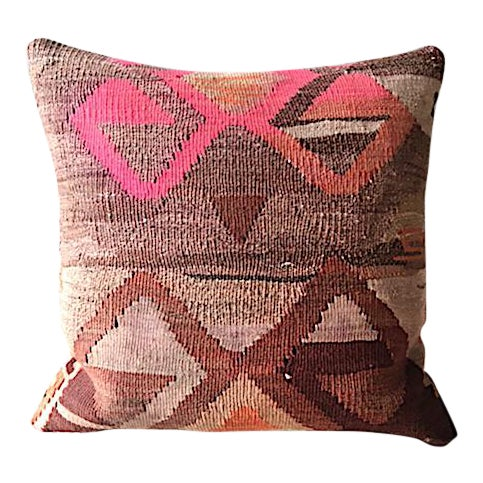 Kilim Rug Upholstered Pillow For Sale