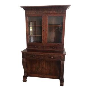 Mid 19th Century Empire Mahogany Bookcase/Secretary Desk For Sale